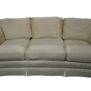 """Fabulous Sherrill Concave Cream White Silk Sofa, 84""""W"""