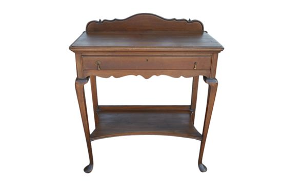 Queen Anne Desk >> Antique English Walnut Butlers Table Console