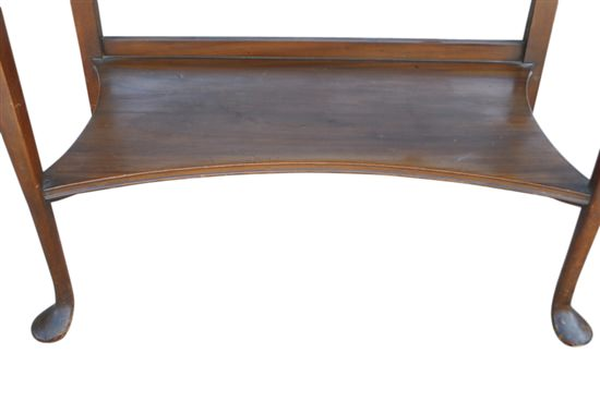 Antique Queen Anne Style Walnut Console Butlers Table, Writing Desk Ca 1900