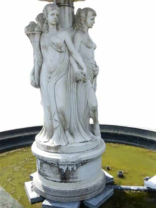 Larger Than Life Marble Fountain, Single Tier, Partly Nude Four Seasons, 14 Ft Tall!