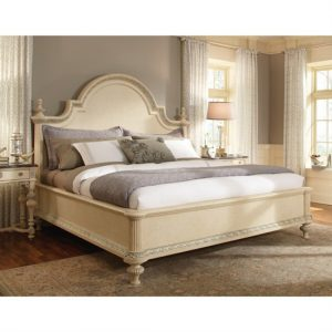 Floor Sample Schnadig King Bed Victoria Collection 9833-360 Antique Beige/White Retail $4000