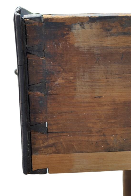 "Rare Antique Primitive Solid Wood Work Table Ca 1850 46""W"