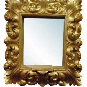 "Ornate Deep Shadow Box Style Gold Gilt Mirror  22"" x 27"""