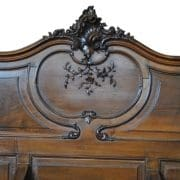 Rare Antique French Rococo Entry Bench  55″ H, Carved Walnut