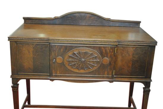 antique sheraton style server sideboard mahogany flaming mahogany. Black Bedroom Furniture Sets. Home Design Ideas