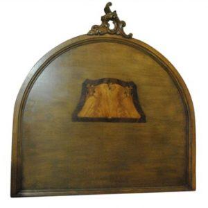 "Elegant Antique Walnut Queen Rococo Headboard Solid Wood 62""H"