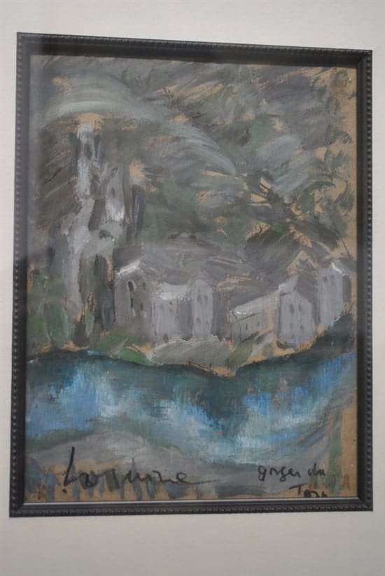 Tatiana Loginoff (Loguine) Original Oil on Cardboard Painting, Signed, 26 x 28