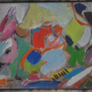 Moshe Rosenthalis Original Painting 17 x 20 Framed,Israeli Artist