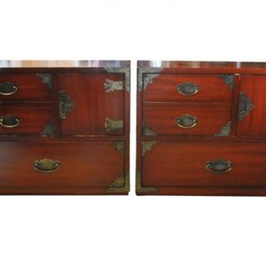 """(2) Thomasville Side Tables, Solid Wood,  Asian Style 22""""H"""