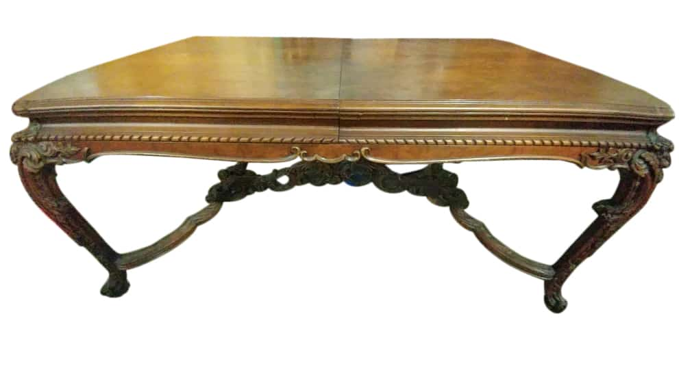 Baroque Style Dining Table, Dining Table, Lycoming Dining Table, Lycoming  Furniture., Walnut Dining Table