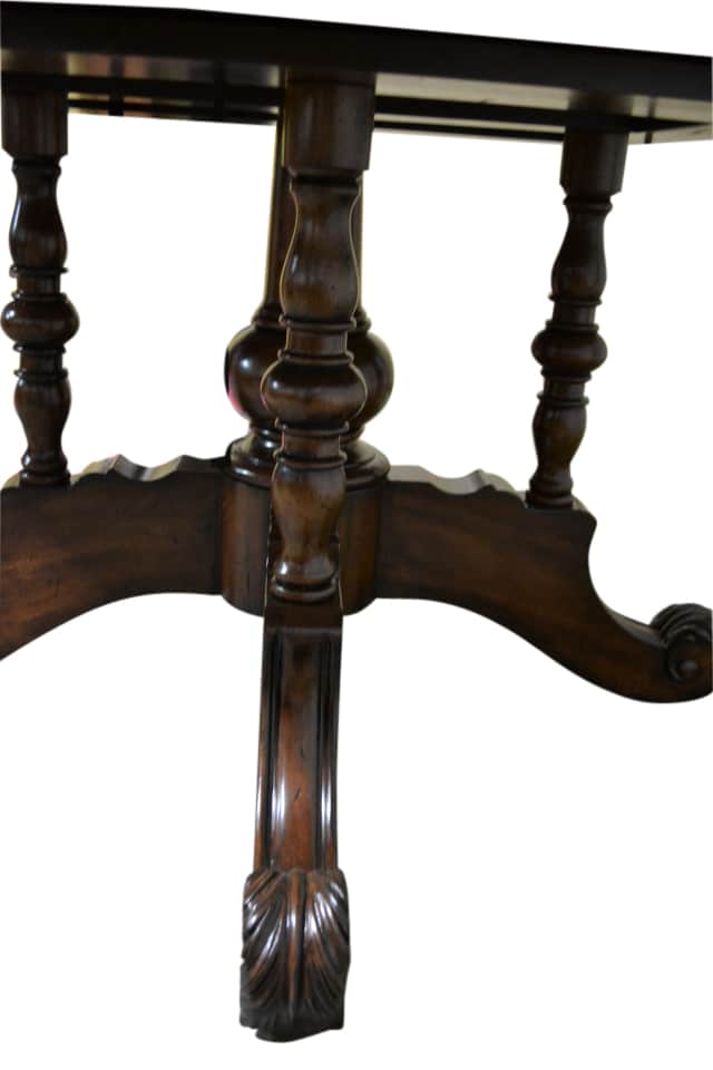 Showroom Sample Drexel Heritage Granite Top  Round Dining Table - Drexel dining table