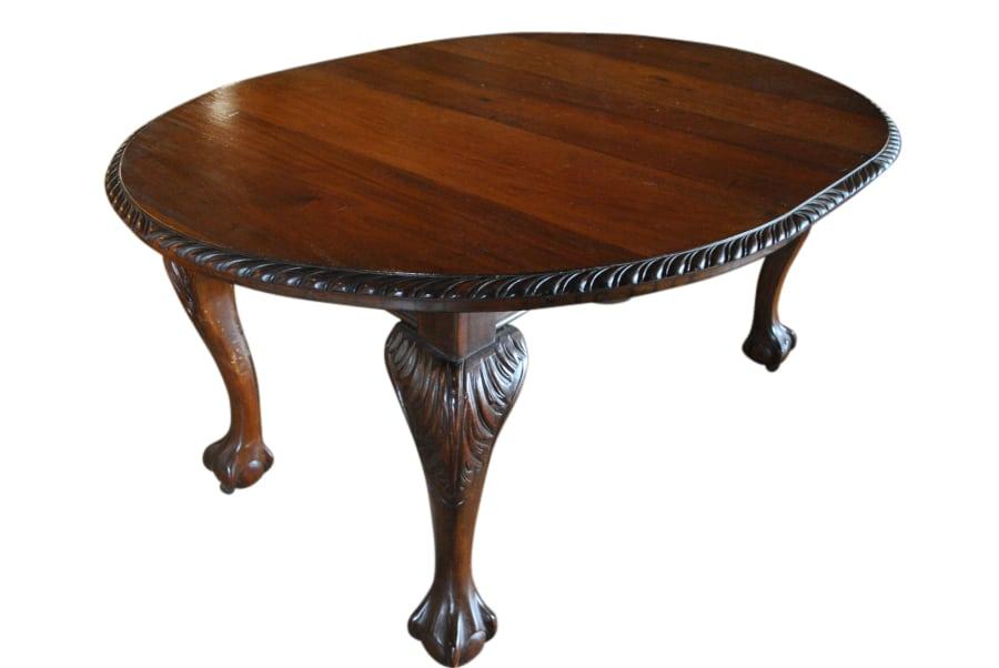 antique dining table. Antique Dining Table  Chippendale Style Oval Mahogany 47 L 60