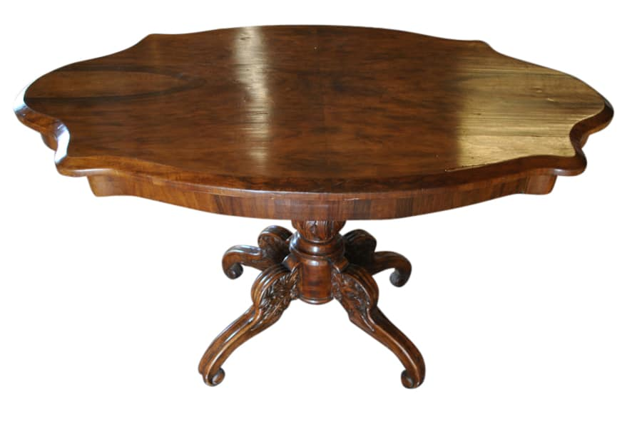 Exceptionnel Antique Accent Table, Antique Scalloped Walnut Table, Antique Walnut Table,  Scalloped Walnut Table, Walnut Accent Table