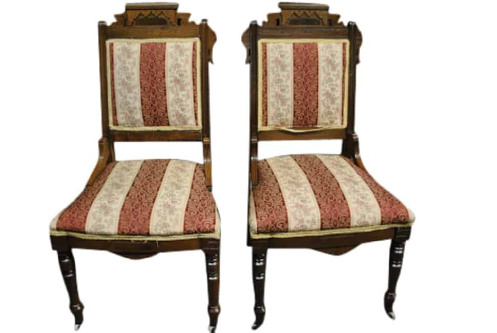 Tom Glavineu0027s Pair Of Antique Eastlake Victorian Side Chairs, Walnut, Circa  1880u0027s, PA5007   Aardvark Antiques