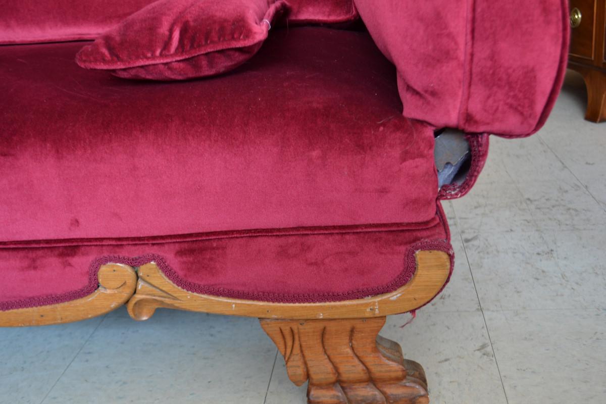 Antique, Antique Bench, Antique Chaise, Antique Sofa, Bench, Chaise, Knole  Settee, Knole Sofa, Sofa, Velvet