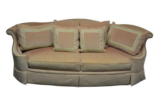Wondrous Private Luxurious Henredon Concave Sofa Peach Velvet Pabps2019 Chair Design Images Pabps2019Com