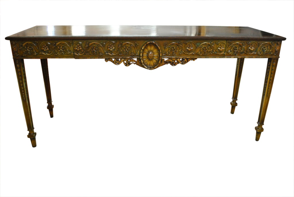 Lovely Antique Neoclassical Console Table, Hand Painted, Circa 1900\'s,  72\