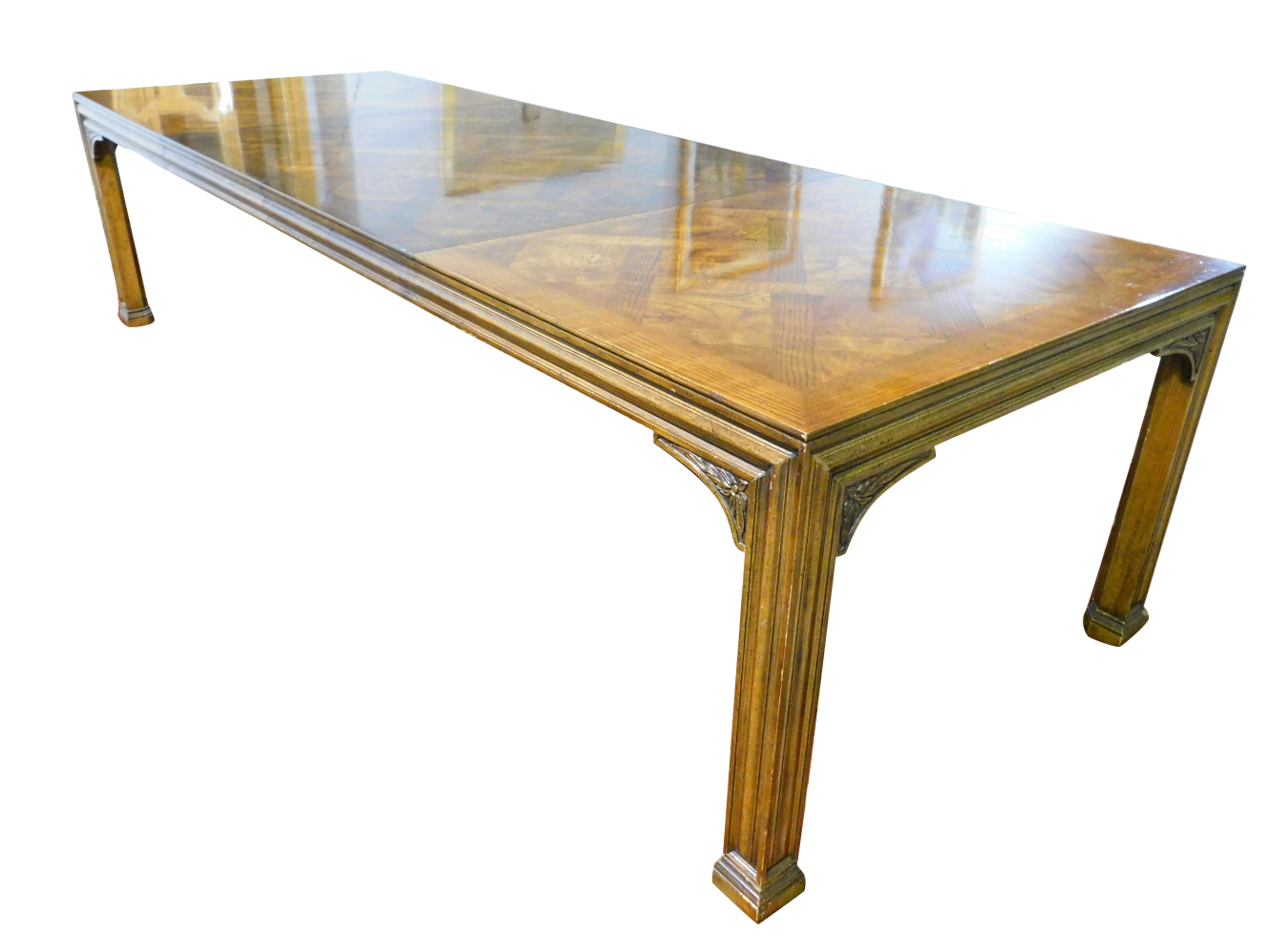 Henredon Dining Table, Mid Century Style, Almost 10ft, PA5246DC