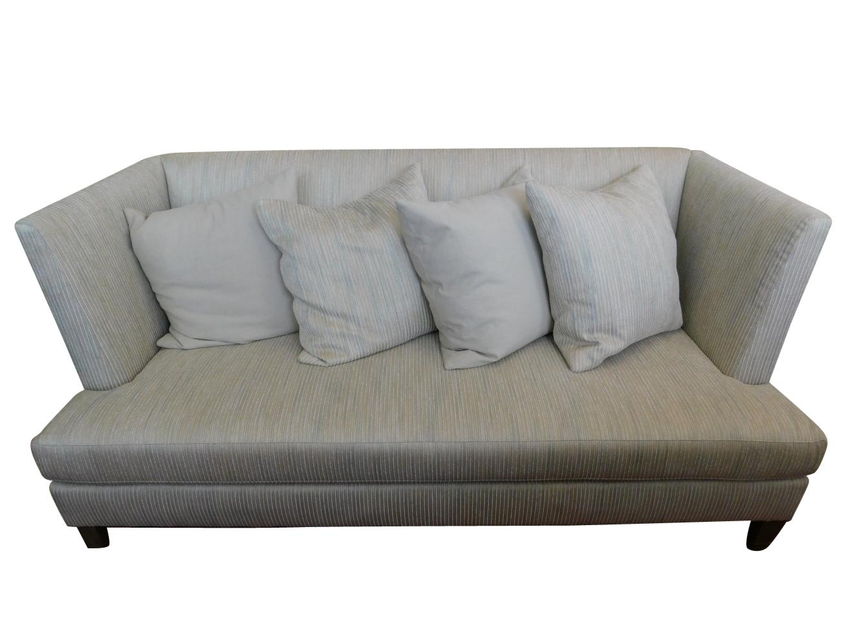 Awe Inspiring New Showroom Sample Hickory White Modern Sofa Beige Striped 82W Pa5250 Machost Co Dining Chair Design Ideas Machostcouk