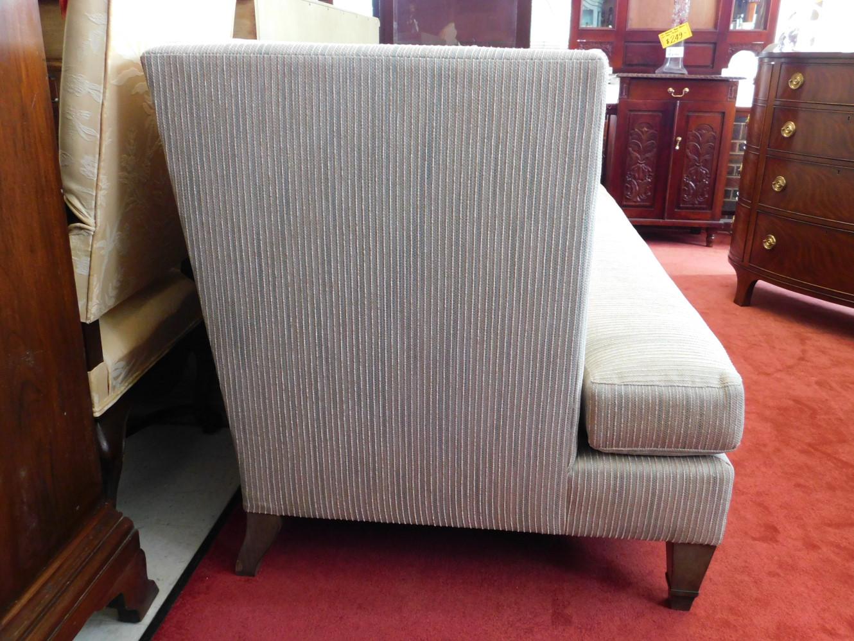Marvelous New Showroom Sample Hickory White Modern Sofa Beige Striped 82W Pa5250 Machost Co Dining Chair Design Ideas Machostcouk