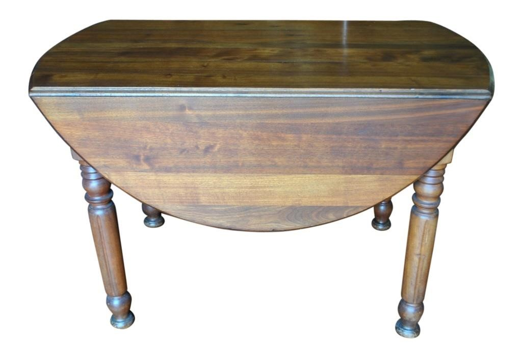 Charmant Antique Drop Leaf Table, Solid Walnut, Oval, Circa 1870, PA5260   Aardvark  Antiques