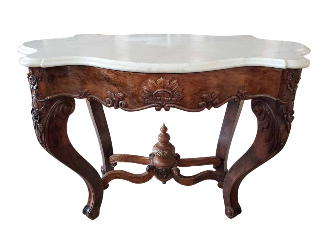 Marble Top Oval Table 30 H