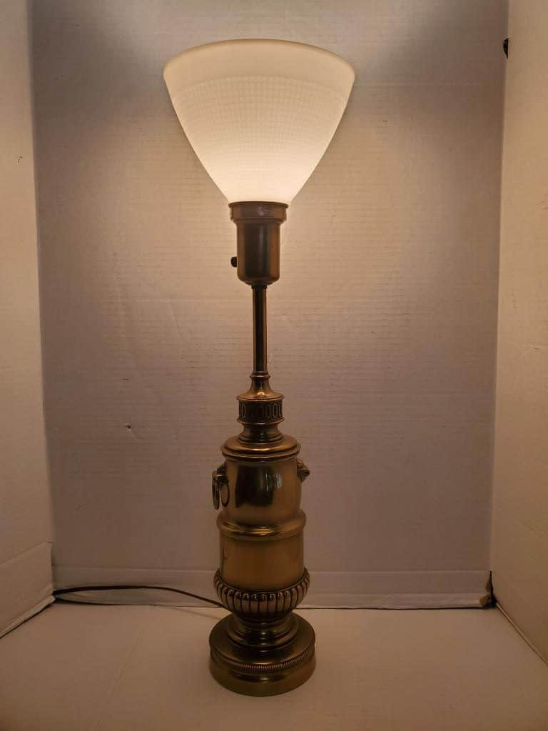 Vintage Stiffel Torchiere Table Lamp Brass 26 H Pa5522aa Aardvark Antiques